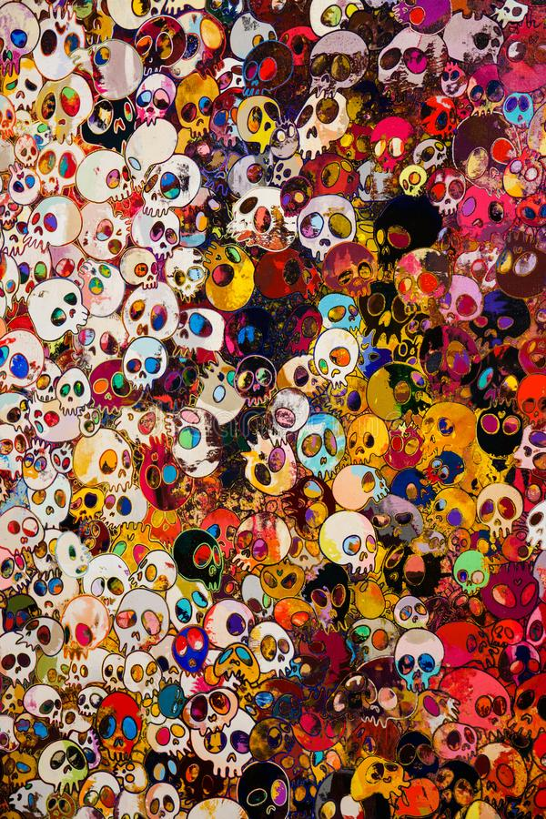 Exhibition of works by Takashi Murakami, Garage Museum, January 6, 2018, Russia, Moscow. Exhibition of works by Takashi Murakami, Garage Museum, January 6, 2018 stock photo