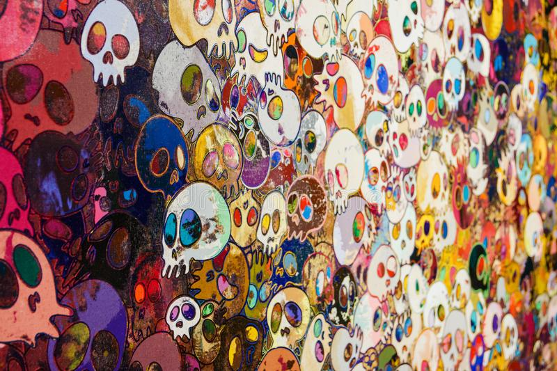 Exhibition of works by Takashi Murakami, Garage Museum, January 6, 2018, Russia, Moscow. Exhibition of works by Takashi Murakami, Garage Museum, January 6, 2018 stock photography