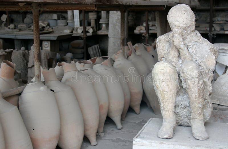 Exhibits from Pompeii royalty free stock photo