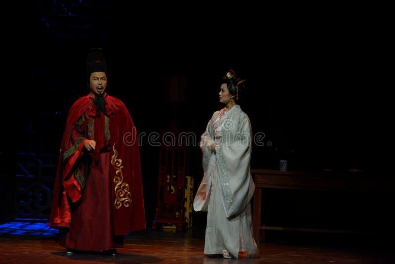 Exhorte el acto de la rebelión- del marido no en segundo lugar: la noche del drama histórico ejército-grande, ` Yangming ` de tre fotos de archivo