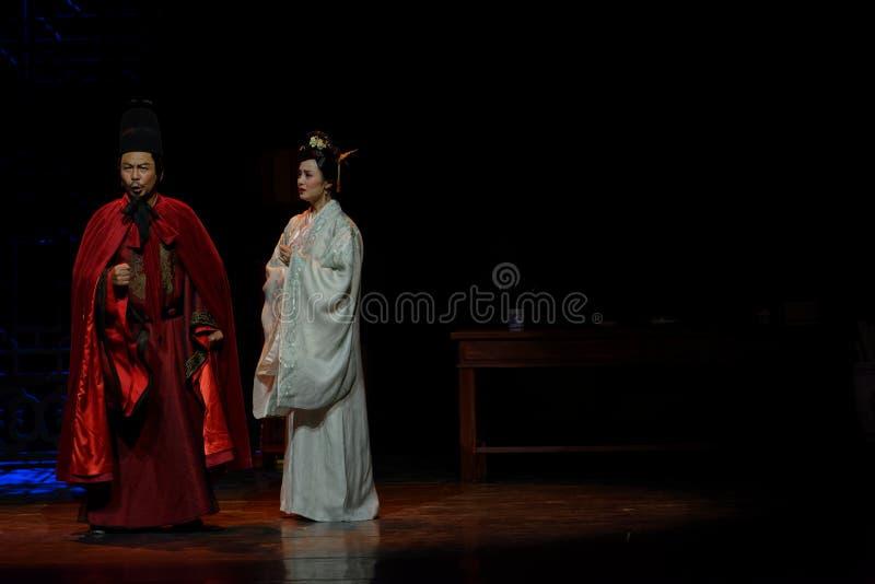 Exhorte el acto de la rebelión- del marido no en segundo lugar: la noche del drama histórico ejército-grande, ` Yangming ` de tre fotografía de archivo