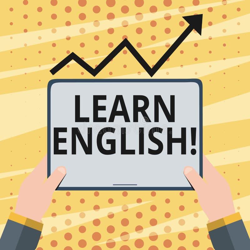 A exibição conceptual da escrita da mão aprende o inglês Foto do negócio que apresenta para ganhar para adquirir o conhecimento n ilustração stock