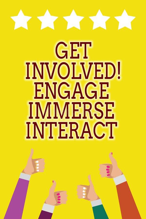 A exibição conceptual da escrita da mão obtém involvida contrata imerge interativo Apresentar da foto do negócio junta-se conecta ilustração do vetor