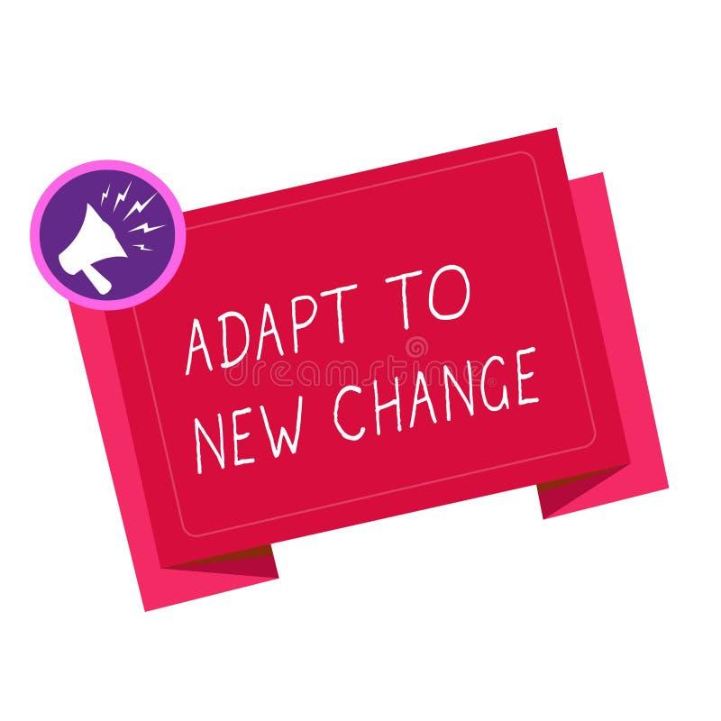 A exibição da nota da escrita adapta-se à mudança nova Apresentar da foto do negócio habitua-se à inovação a mais atrasada do Min ilustração do vetor