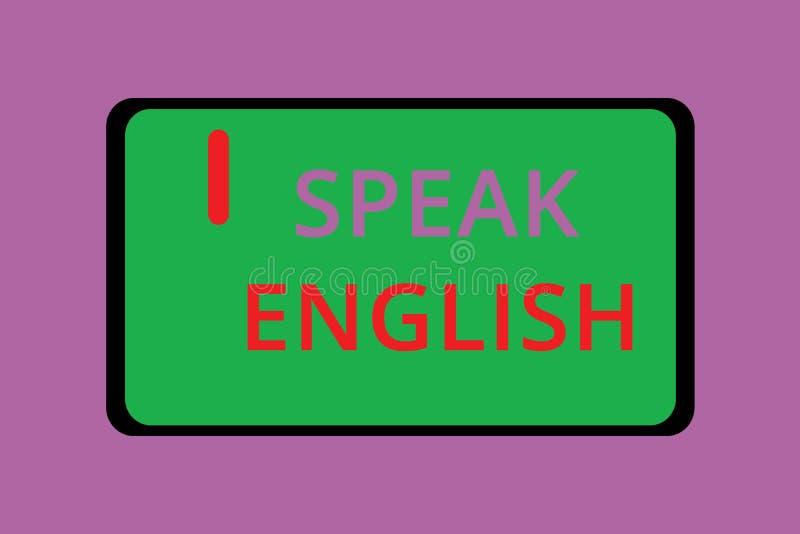 A exibição da nota da escrita fala o inglês Estudo apresentando da foto do negócio uns outros cursos verbais em linha da língua e ilustração royalty free