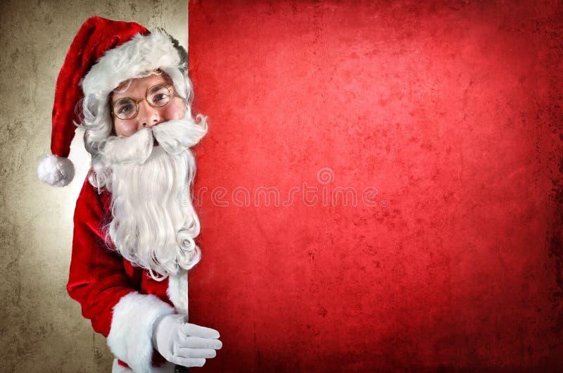 Exibição de Papai Noel imagens de stock royalty free