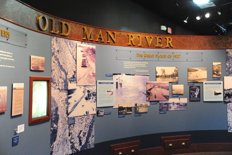 Exibição no depósito de trem, Helena Arkansas do rio do ancião fotos de stock