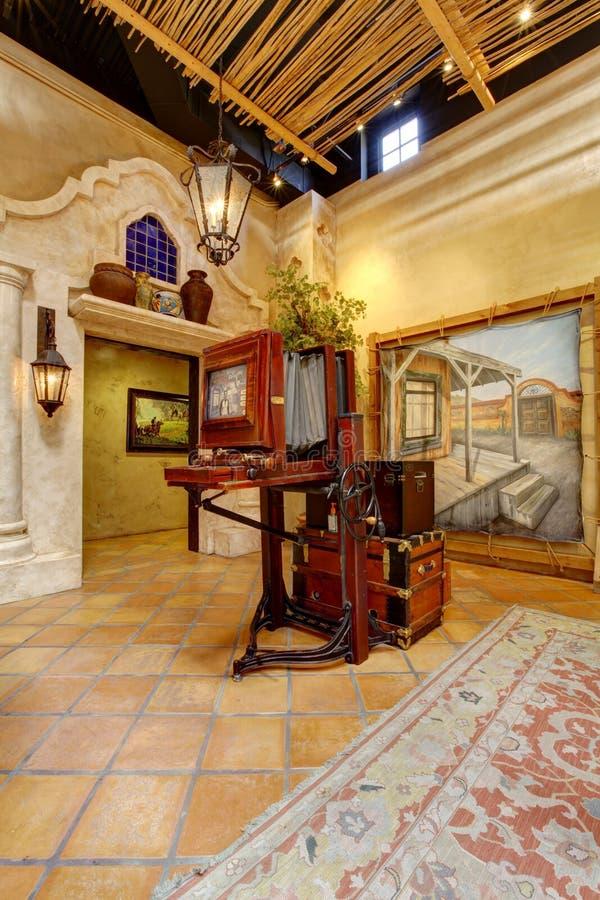 Exibição no local histórico do batalhão do mórmon, San Diego fotografia de stock royalty free