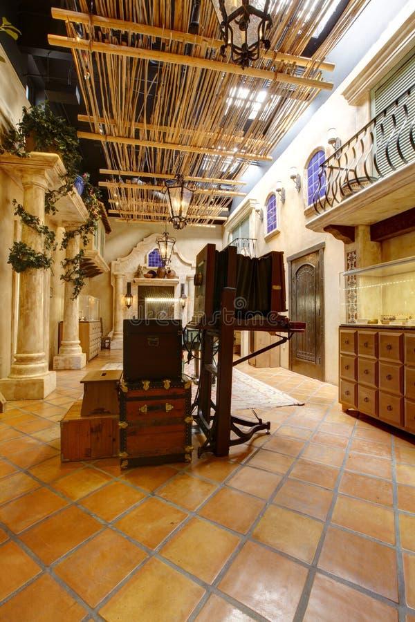 Exibição no local histórico do batalhão do mórmon, San Diego fotos de stock royalty free