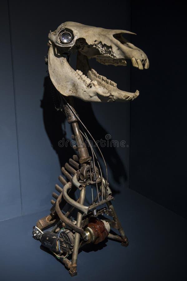 Exibição no museu mecânico da arte e do projeto dentro Straford-em cima de imagens de stock royalty free