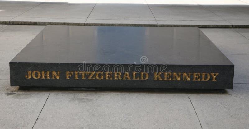 Exibição permanente Dallas do centro de JFK, Texas fotografia de stock royalty free