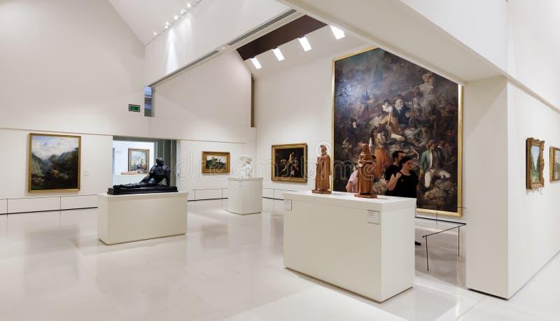 Exibições de Art Museum nacional de Catalonia imagem de stock