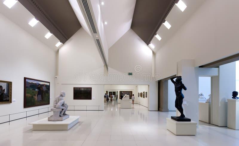 Exibições de Art Museum nacional de Catalonia imagem de stock royalty free