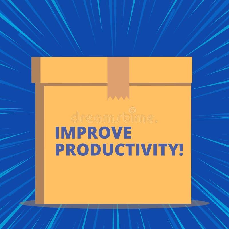 A exibi??o da nota da escrita melhora a produtividade Apresentar da foto do neg?cio aumenta a qualidade do tempo da entrada e ilustração royalty free