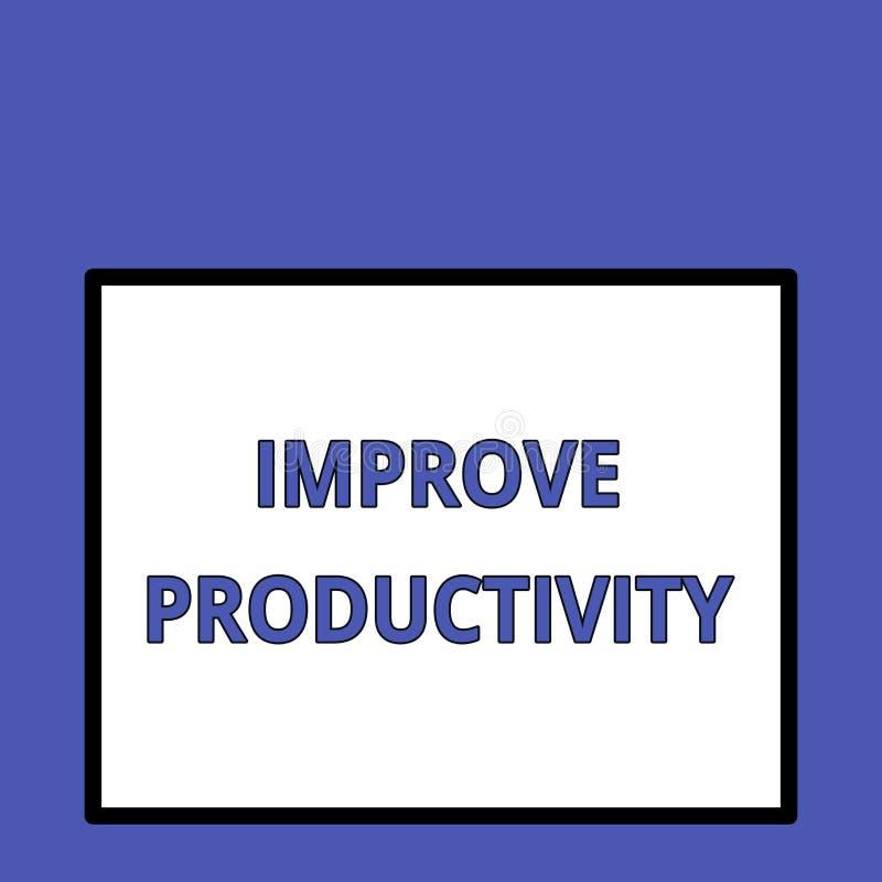 A exibi??o da nota da escrita melhora a produtividade Foto do negócio que apresenta para aumentar a eficiência da máquina e do pr ilustração royalty free