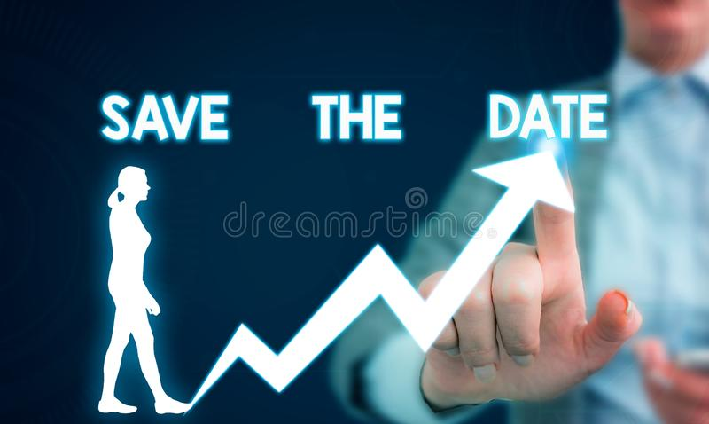 Exibi??o do sinal do texto salvo a pergunta da data Foto conceptual que pede que alguém recorde o ser humano específico da fêmea  imagem de stock royalty free