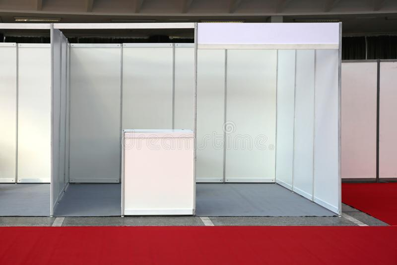 Exibition Space Empty. Empty Exibition Trade Fair Stand stock photography