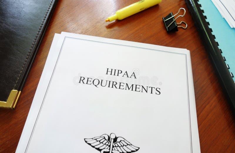 Exigência de HIPAA foto de stock