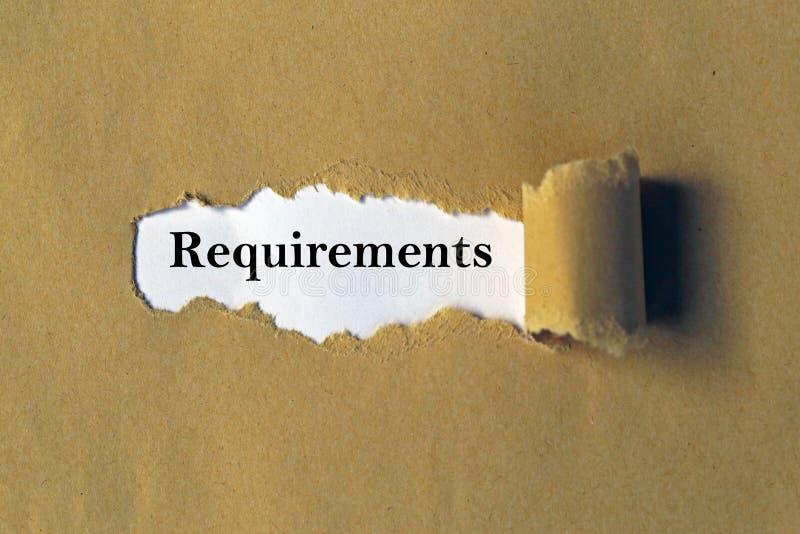 Exigências no Livro Branco imagens de stock royalty free