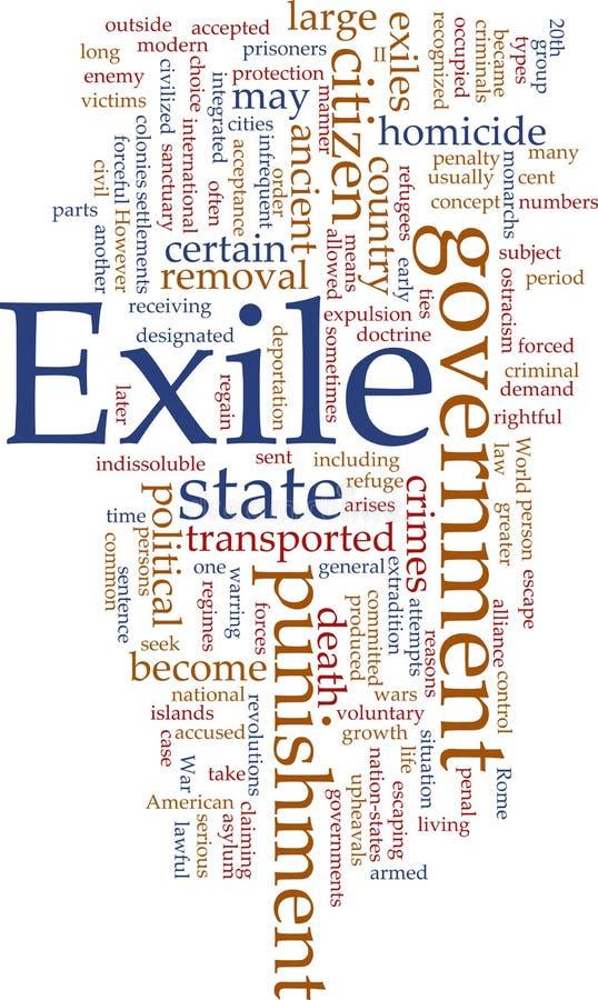 Download Exile word cloud stock illustration. Image of word, illustration - 11113372