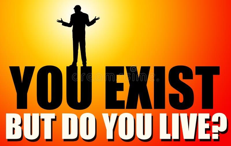Existência contra a vida ilustração do vetor