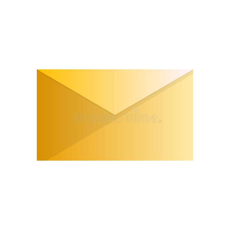 Yellow envelope simple but exlusive vector illustration
