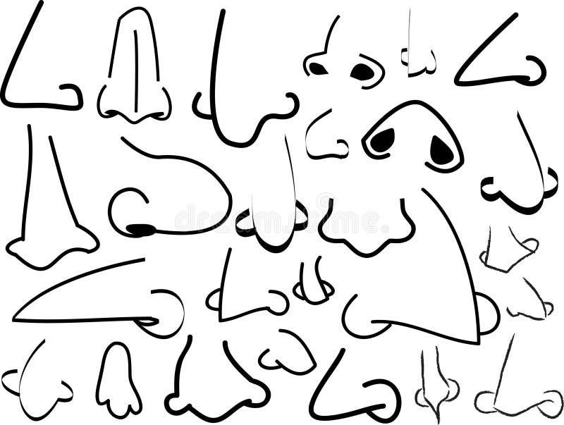 Existencias de las narices stock de ilustración