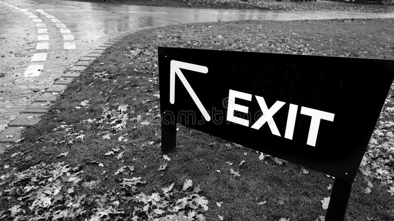 Download Exit stock image. Image of word, post, arrow, exit, direction - 27819159