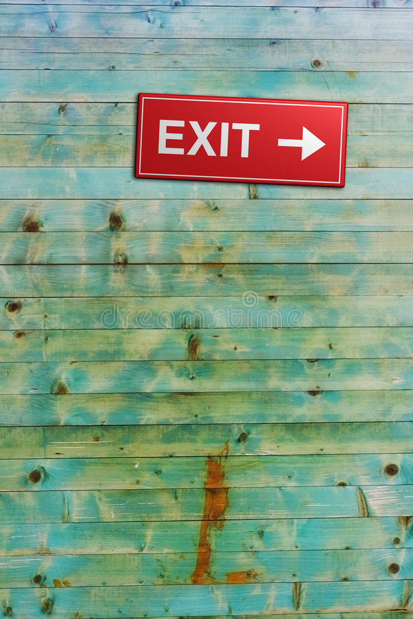 Download Exit stock photo. Image of exit, info, wooden, sign, green - 5776222