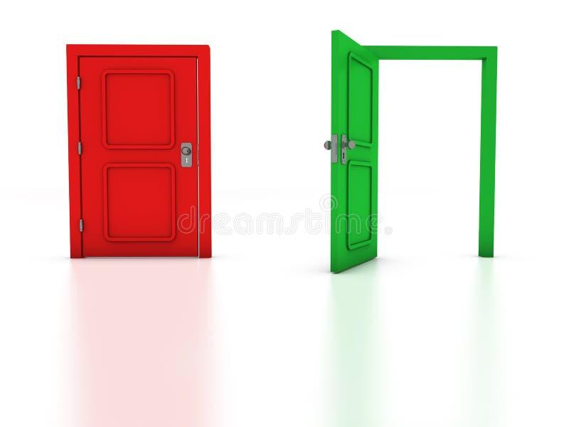 Exit stock illustration