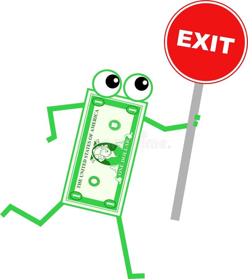 Exit dollar royalty free illustration