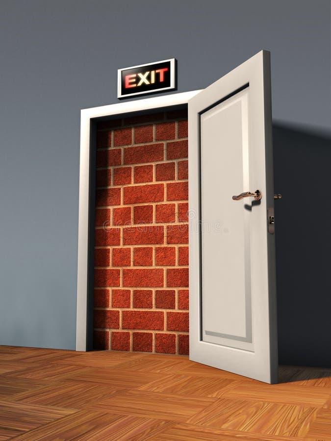 Exit door royalty free illustration