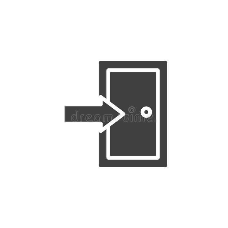 Exit door icon vector royalty free illustration