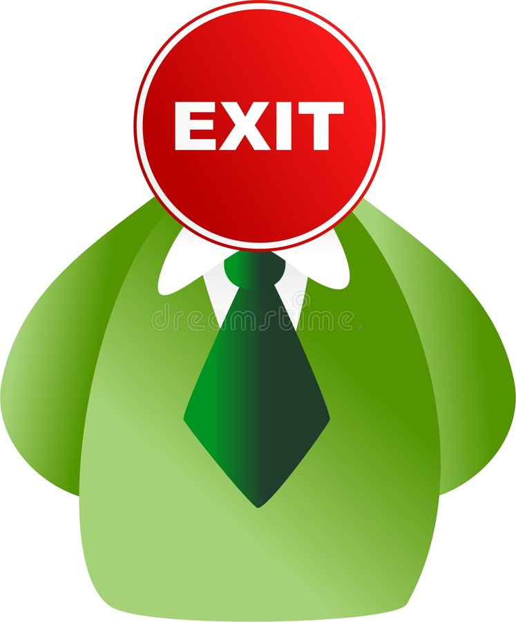 Exit face royalty free illustration