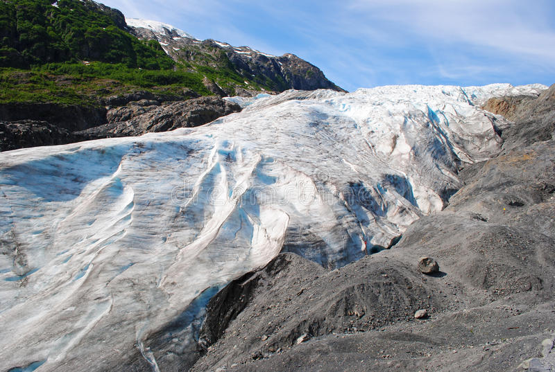Exit Glacier Seward. Exit Glacier near Seward, Alaska royalty free stock image