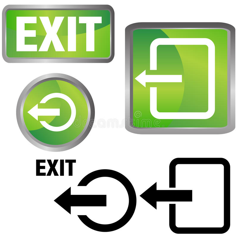 Exit Icons. An image of a exit icons royalty free illustration
