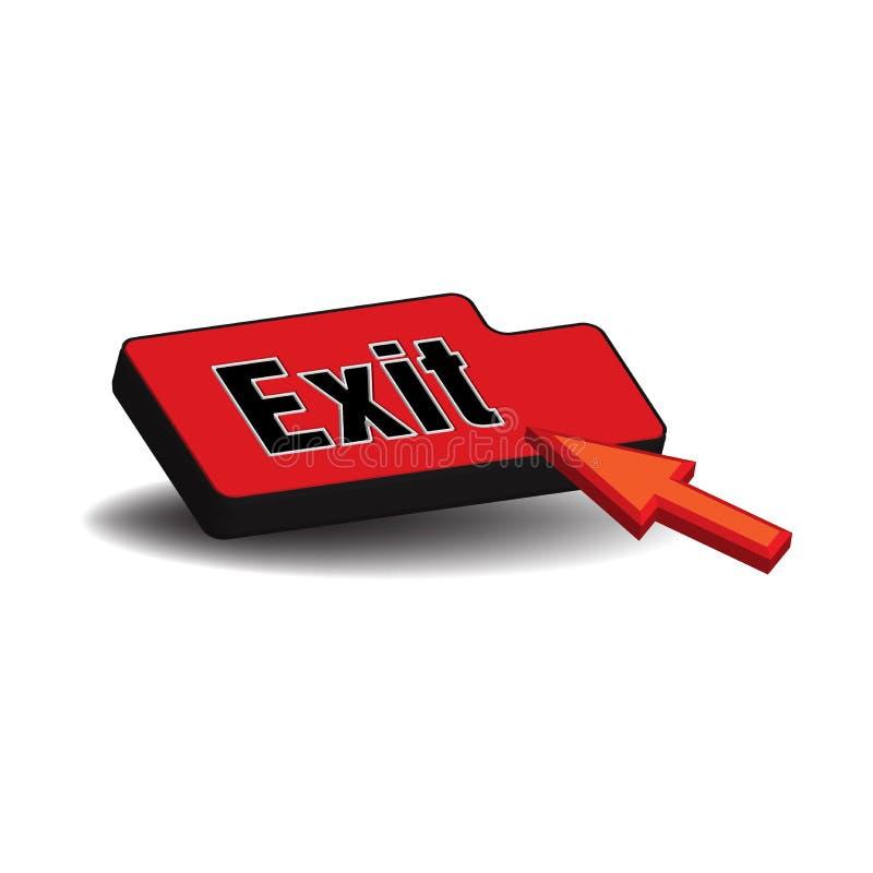 Exit knäppas vektor illustrationer