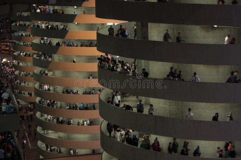 Exit ramps. Milano (Italy) September 15, 2013. San Siro (Meazza) stadium, exit ramps royalty free stock photos