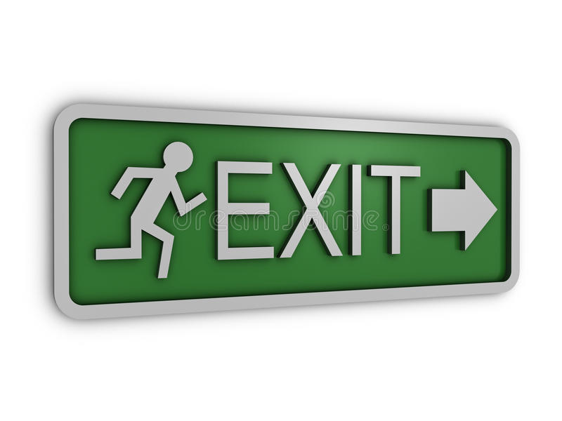 Download Exit sign stock illustration. Image of green, instruction - 11696761