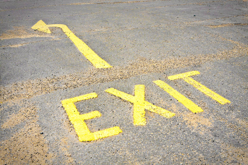 Download Exit sign stock image. Image of tainted, tarmac, sign - 21041363