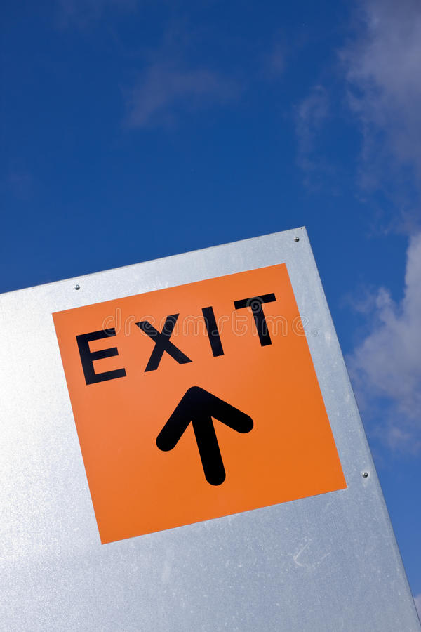 Download Exit sign stock photo. Image of road, sign, arrow, communication - 24028138