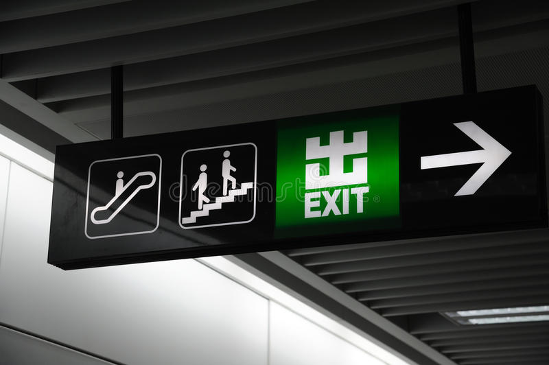 Exit sign royalty free stock photos
