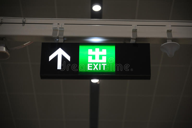 Download Exit Sign Royalty Free Stock Photos - Image: 26608448