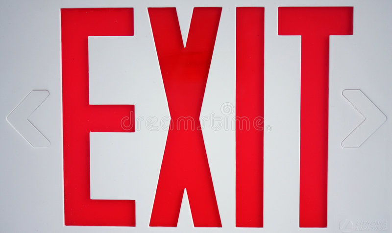 Download Exit Sign stock image. Image of background, letter, copy - 7659759