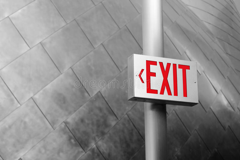 Download Exit Sign stock image. Image of exit, background, reflective - 9752811