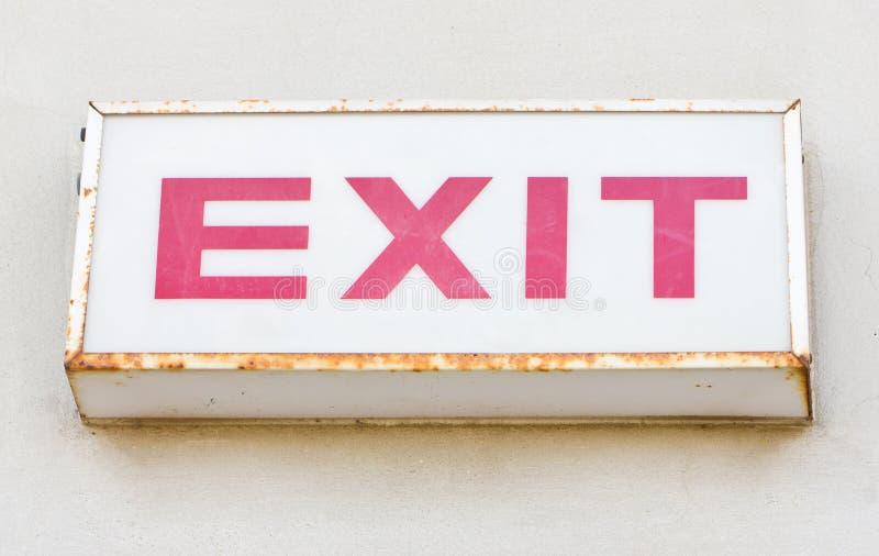 Exit Sign. stock photos