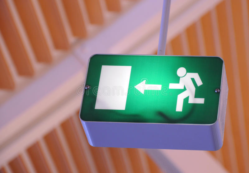 Exit sign, fire escape royalty free stock photo