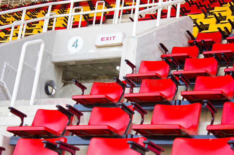 Exit Sign At Stadium. royalty free stock image