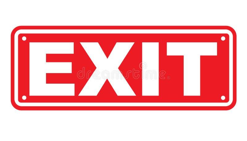 Exit sign or symbol stock illustration