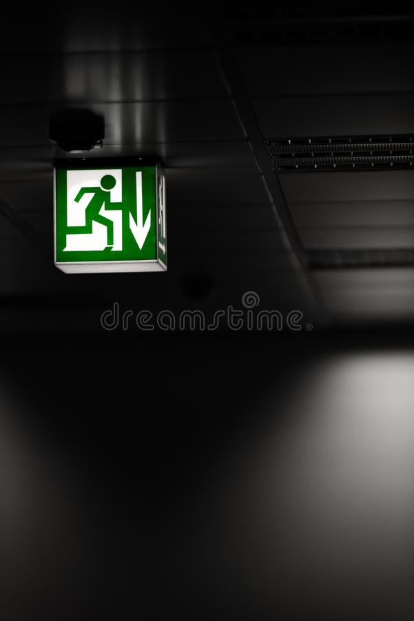 Download Exit sign on the wall stock image. Image of symbol, exit - 33993229